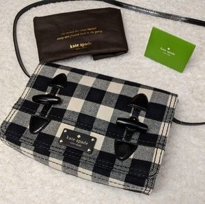 Kate Spade Buffalo Plaid Patent Crossbody Bag NWT